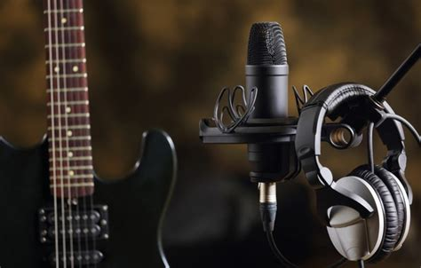 wallpaper  guitar headphones sound electro