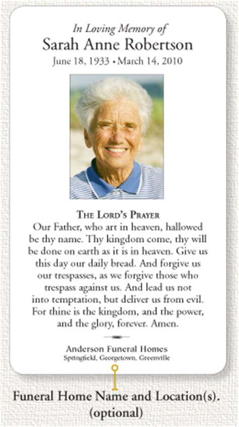 printable funeral prayer card template shatterlioninfo