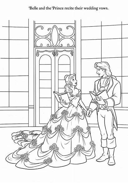 Coloring Disney Beast Belle Princess Sheets Cartoon