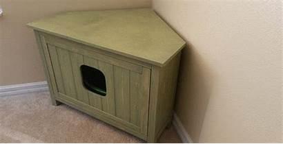 Litter Box Corner Cat Furever Boxes Cabinet