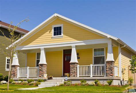 Home Design Yellow : Yellow Modern Bungalow House Plans
