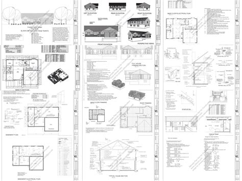house construction plans small cabin and bunk house plans and blueprints
