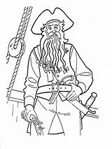 Coloring Pirates Pages Caribbean Print Printable Boy Cartoon Mycoloring Quality sketch template