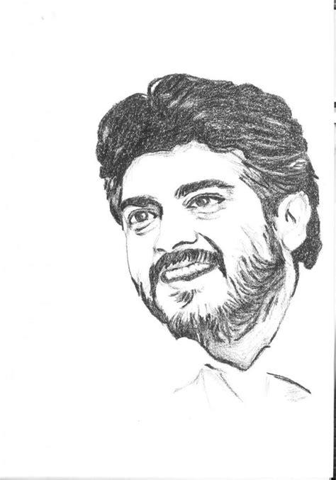 Ajith - Indian Actor -quick sketch - Sketching by Vijay