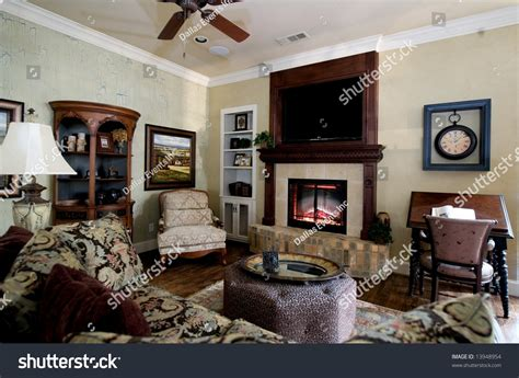 Image Nicely Decorated Living Room Stock Photo 13948954 Rockwood Floor Plans Sketchup Homes House Designs And Kitchen Open 1.5 Story Dance Studio Plan Easy