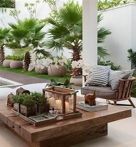 moderne terrassengestaltung mit niedrigen tisch garten With französischer balkon mit garten terrassengestaltung