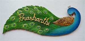 Peacock Name Plate-Online Shopping-