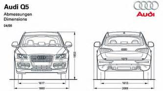 Dimension Audi Q5 Audi Q5 Vs Lexus 450h Dimensions Autos Post
