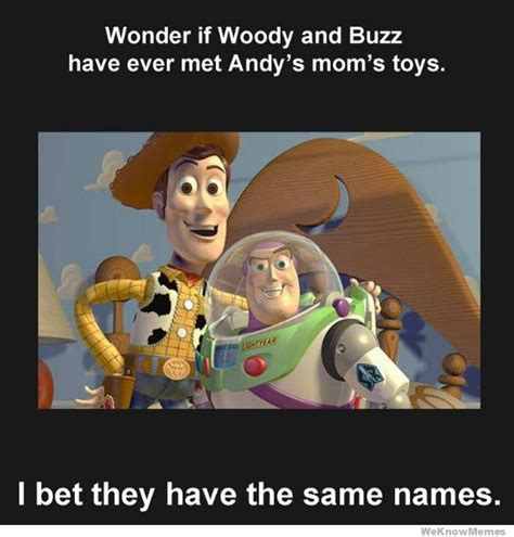 Buzz And Woody Meme - toy story andys mom car interior design