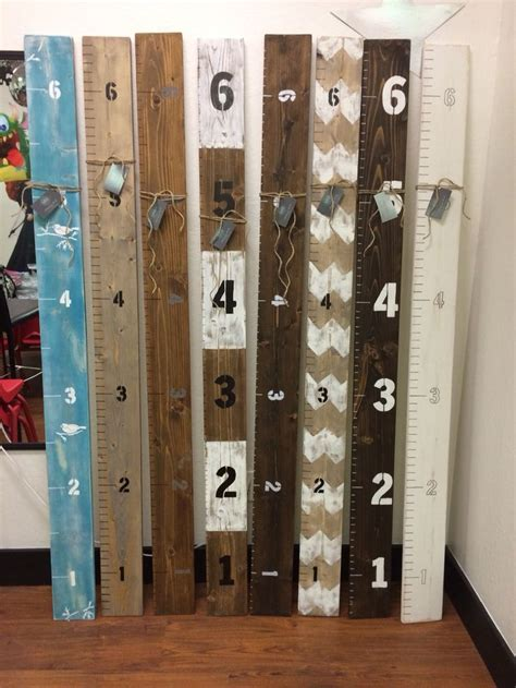 diy growth charts rustic ruler giant growth ruler