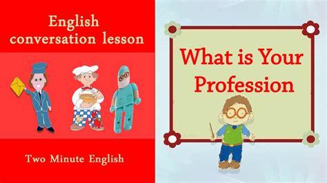 english job vocabulary professions  english