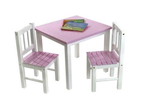 lipper international 513pk child s table and 2 chair set