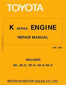 Toyota K Series Service Engine Repair Manual