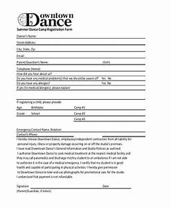 sample summer camp registration form 10 free documents With dance school registration form template free