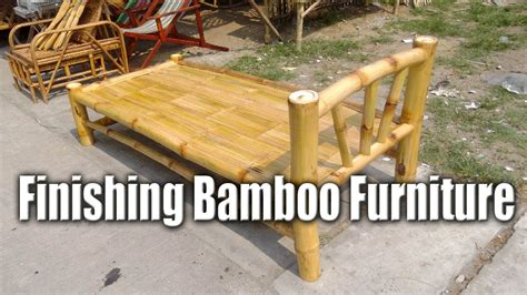 finishing bamboo furniture handcrafted bed chris filipino