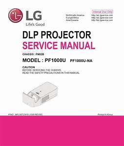 Lg Pf1000u Projector Service Manual And Repair Guide