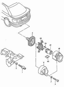2002 Audi A6 Quattro Allroad Housing For Trailer Coupling Socket  With Micro Switch  13 Pin