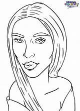Coloring Pages Celebrity Kim Kardashian Celebrities Kardashians January sketch template