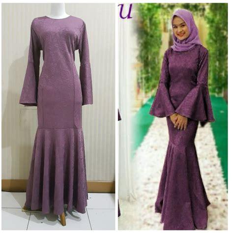 jual baju pesta gamis modern baju duyung muslim dress pesta muslimah longdress muslim
