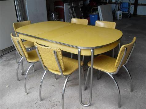 vintage retro yellow formica chrome kitchen table