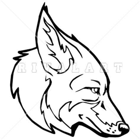 coyote clipart black and white mascot clipart image of a clipart panda free clipart