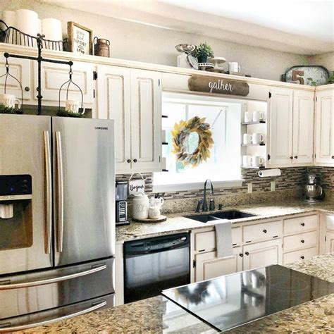 ideas  decorating   kitchen cabinets