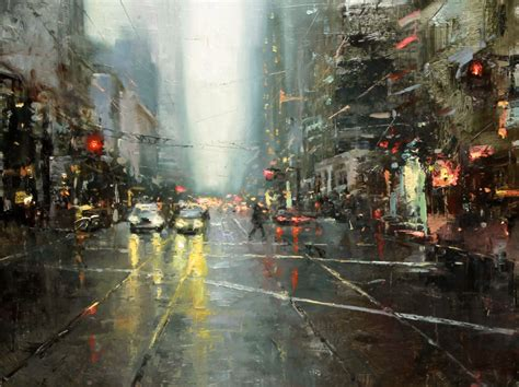 cool oil painting of ny city in autumn pics