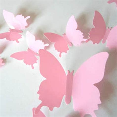 paper butterfly wall decor 12pc chic 3d butterfly wall stickers butterflies docors