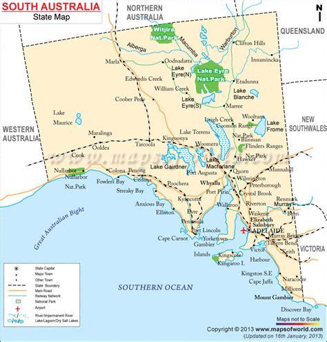 map  south australia south australia map