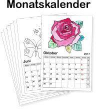 die besten monatskalender zum ausdrucken ideen auf pinterest