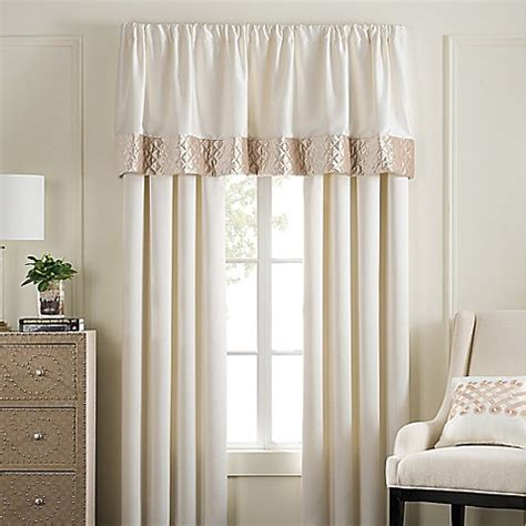 bed bath and beyond valances pearl stripe window curtain panel pair and valance bed