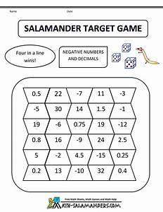 math games fifth grade salamander target game 5th grade bw ...