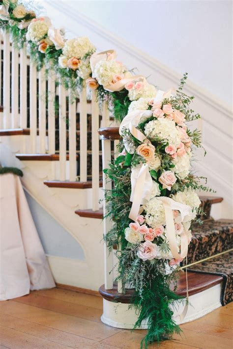 greenery  floral garland wedding decoration ideas