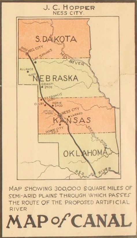 Kansas Canals Map Kansapedia Kansas Historical Society