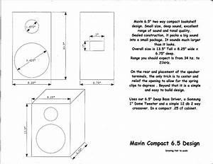 Compact Bookshelf Speaker Kit 6 5 U0026quot  Woofer Dome Tweeter 8 Ohms 125 Watts Amazing Bass