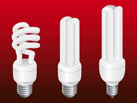 energy saving bulbs vector graphics freevector