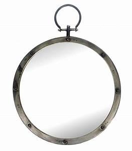 Miroir Rond à Suspendre : miroir mural en bois argent avec moulures ~ Teatrodelosmanantiales.com Idées de Décoration