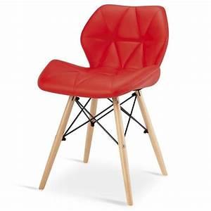 Chaise Rouge Design : chaise design ophir rouge pied en bois achat vente chaise salle a manger pas cher couleur et ~ Teatrodelosmanantiales.com Idées de Décoration