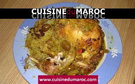 cuisine marocaine poulet farci poulet farci avec chignons et vermicelle