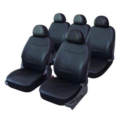 housse siege scenic 3 housses de siège en simili cuir noir pour renault scenic