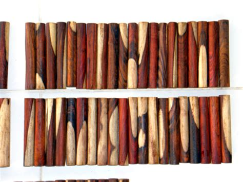 Cocobolo Pen Blanks with some white wood (100 pcs) - Free ...