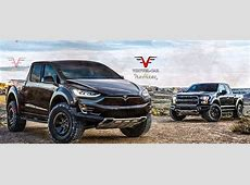 Tesla Model P Rendering Has the 2017 SVT Raptor for