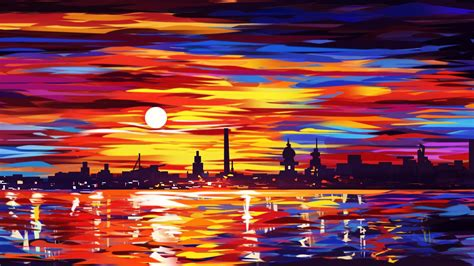oil painting city hd wallpaper wallpaper studio
