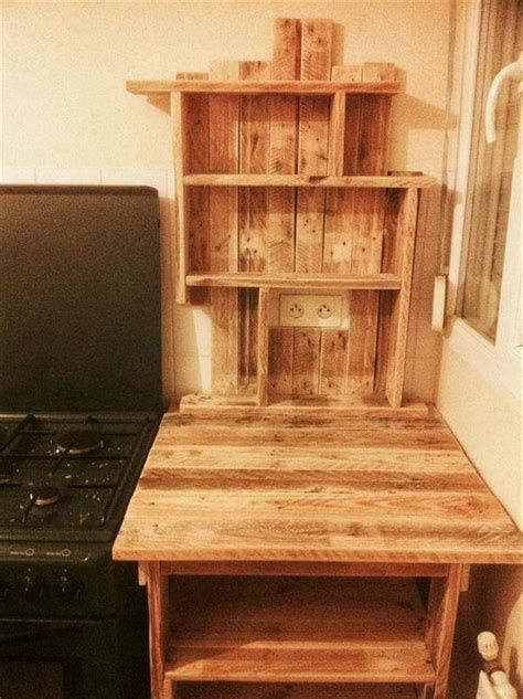 kitchen table with shelves underneath diy pallet kitchen table with shelves