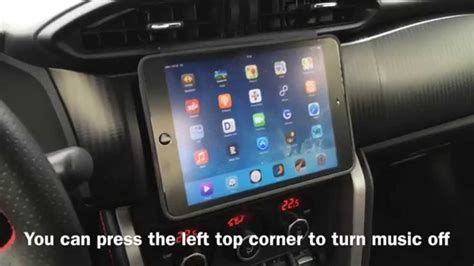 integrate apple ipad mini  cars dashboard