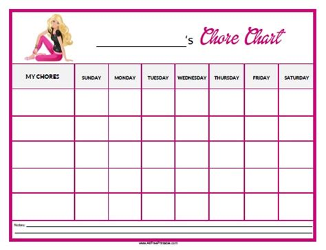practical printable chore charts kittybabylovecom