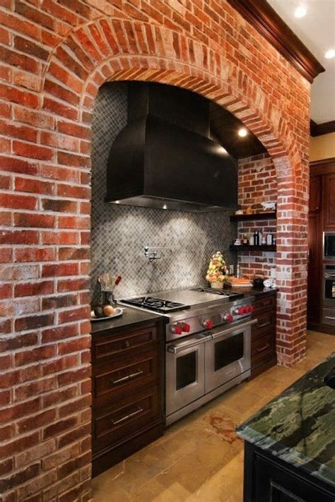 impressive kitchens  brick walls  ceilings
