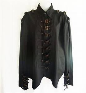 "GMS-40 Men's ""steampunk"" gothic shirt with buckle front ..."