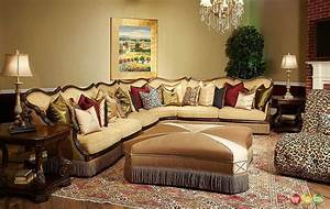 Michael amini victoria palace 4 piece sectional sofa by aico for Sectional sofa victoria
