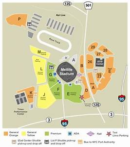 MetLife Stadium Parking Lots Tickets And MetLife Stadium